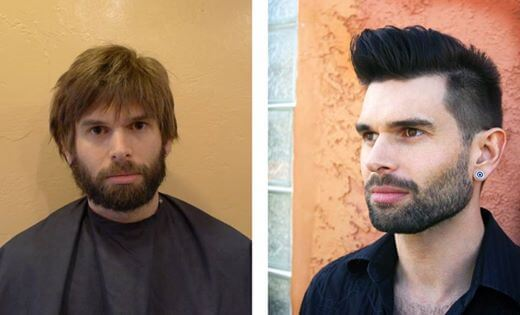 Hair makeover for men